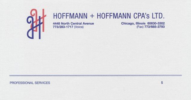 Hoffmann + Hoffman Invoice on Letterhead