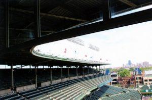 Ballpark view of left field upper deck