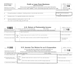 Tax Forms for Pass Throughs